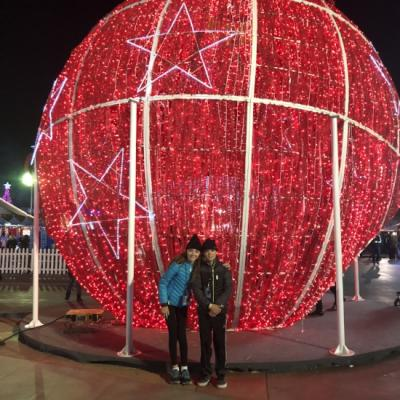 Worlds Largest Ornament at Winterfest