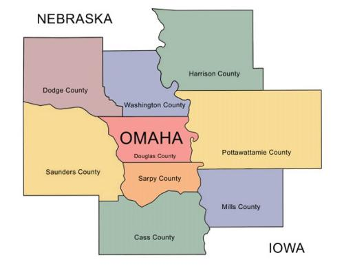 Omaha Metro Area Map