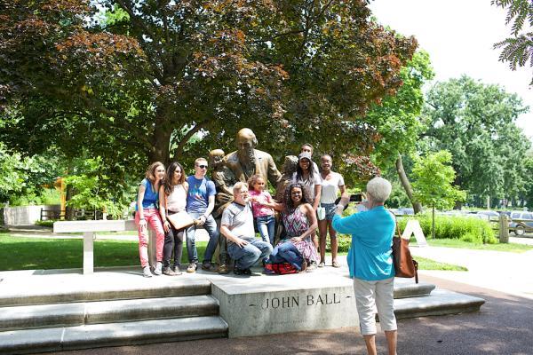 John Ball statue in Grand Rapids