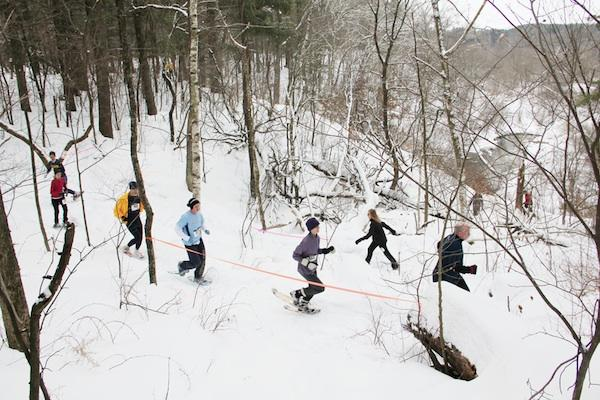 Snowshoeing in Eau Claire