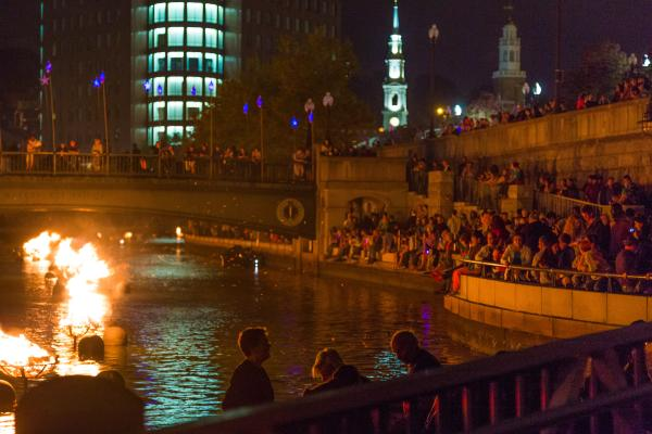 WaterFire Spectators
