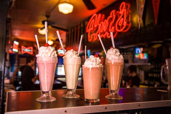 Milk Shakes at Hut's Hamburgers