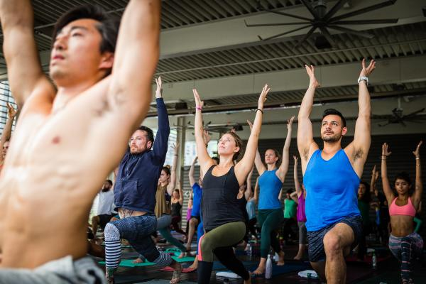 Yoga class at Wanderlust