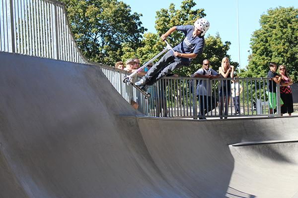 The scooter event at the Xtreme Amateur Games at WJ Skatepark