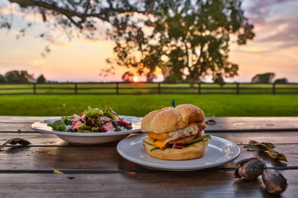 Sunset and a meal at Amelia Farm & Market
