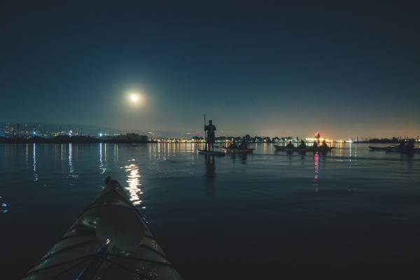 Super Moon Paddle Oakland Estuary
