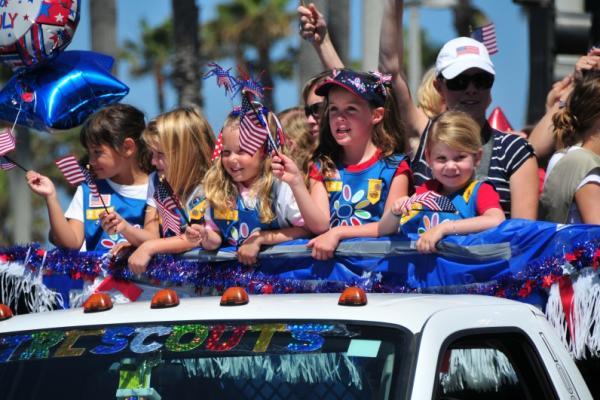 Kids in parade