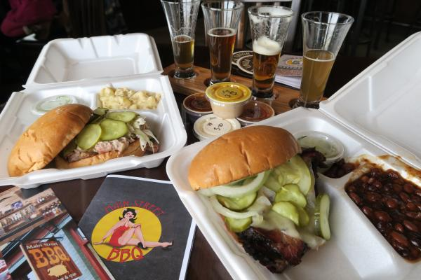Take out food at New Union Brewery