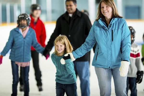 Ice Skating at the Chiller