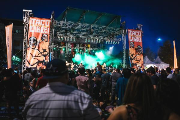 Music stage at Taco Libre festival