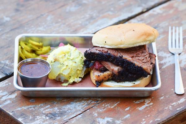 BBQ sandwich from Freedmens BBQ