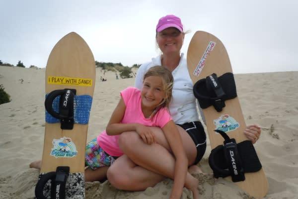 Sandboarding by Lisa Lawton