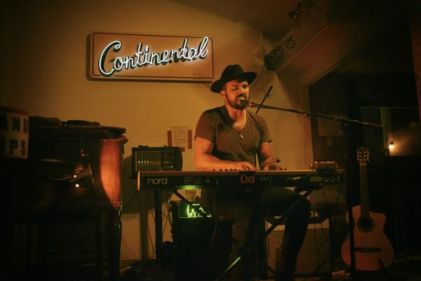 Keyboardist at the Continental Club
