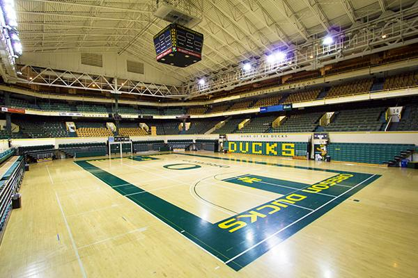 Mac Court Courtesy of University of Oregon Department of Physical Education and Recreation