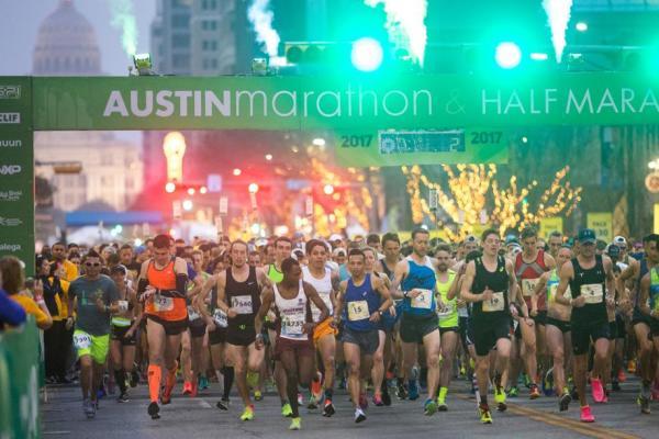 Austin Marathon 2017 Finish Line