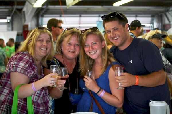 Group Enjoying Finger Lakes Wine Festival