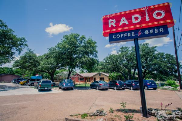 Radio Coffee and Beer exterior sign