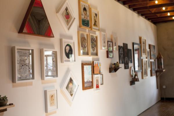 Art on wall at Volcom Garden Gallery
