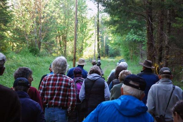 Birding Tour Group at Finn Rock by Julia Sherwood