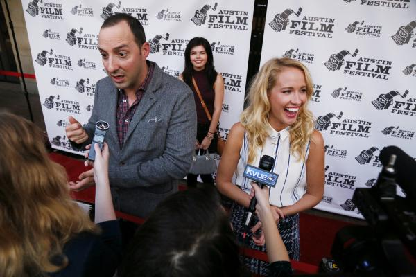 Tony Hale and Anna Camp for Brave New Jersey red carpet at Austin Film Festival