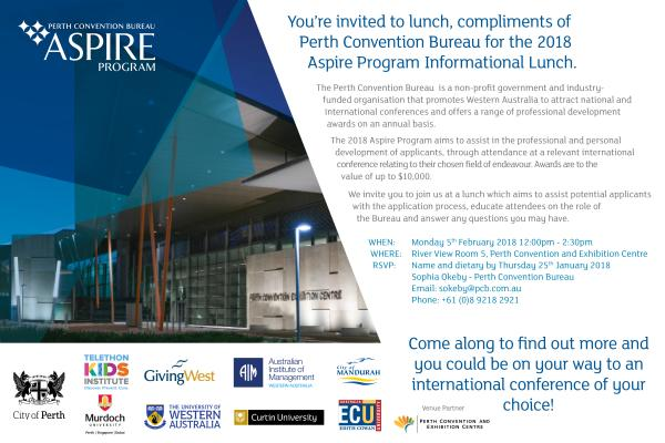 Aspire 2018 Informational Lunch Invite