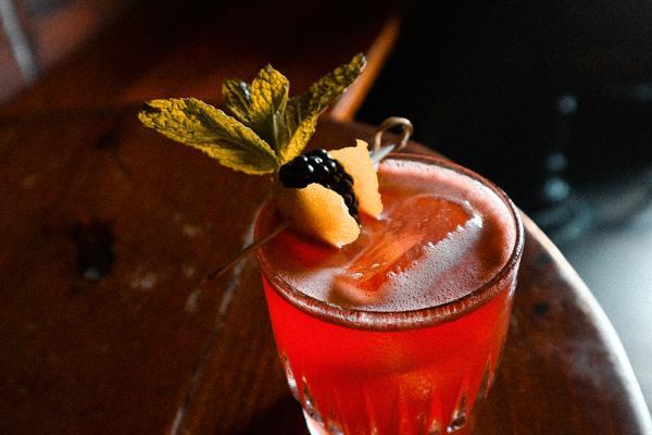 Ben Smash cocktail featuring Ben Milam Whiskey at Blackheart