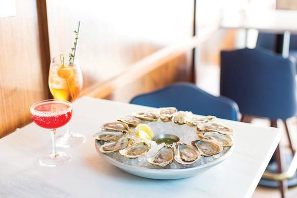 Backbeat oysters and happy hour cocktails