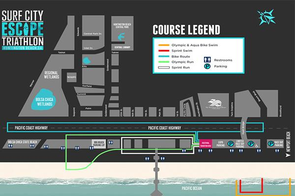 Surf City Escape Course Map