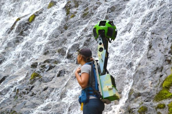 Google Trekking Diamond Creek Falls