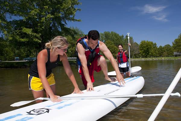 Paddle boarding on Owasco Lake