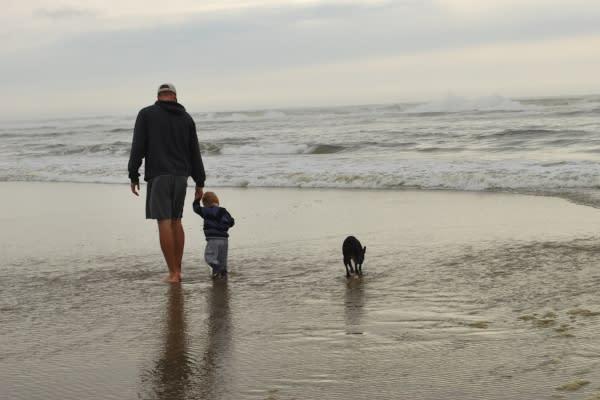 Dog Beach Walk by Emily Forsha