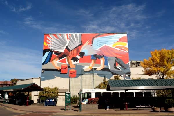 20x21 EUG Mural Project By Jaz Fasoli on the McDonald Building by Colin Morton