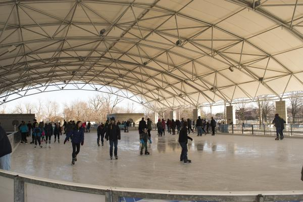 Headwaters Park Ice Skating