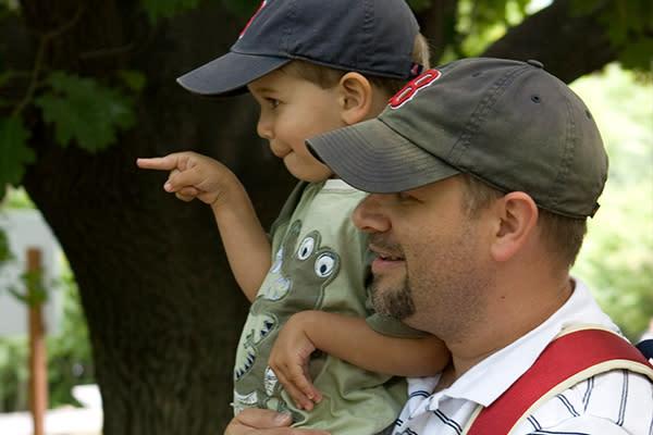 Dad at zoo