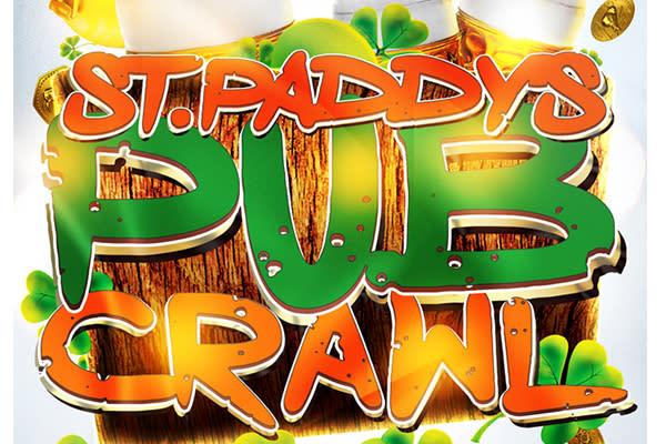 Colorful St. Paddy's Day Pub Crawl design