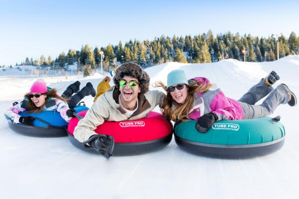 Visitors Having Fun Tubing