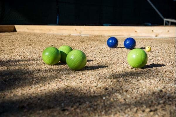 Waterside includes a number of play areas in The Grove, including bocce ball, Jenga and cornhole.