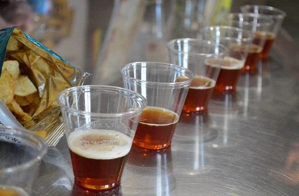 Samples at Ramblin Road Brewery