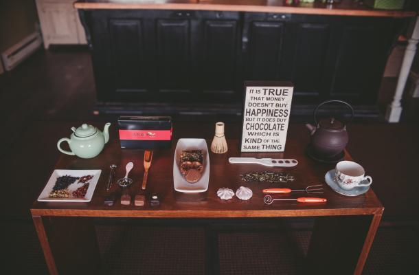 chocolate, tea