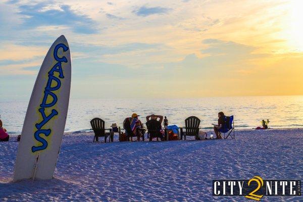 Sunset Surf Board