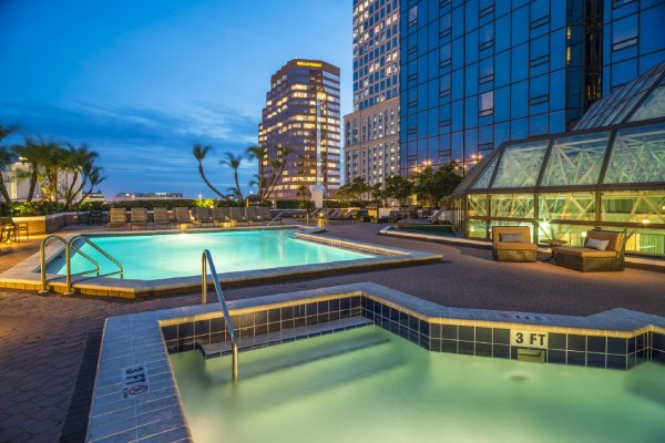 Pool with Whirlpool Hilton Tampa Downtown Hotels