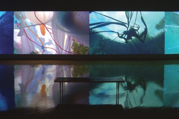 "Janaina Tschape Installation ""Blood, Sea"" in CAM@25 Exhibition"