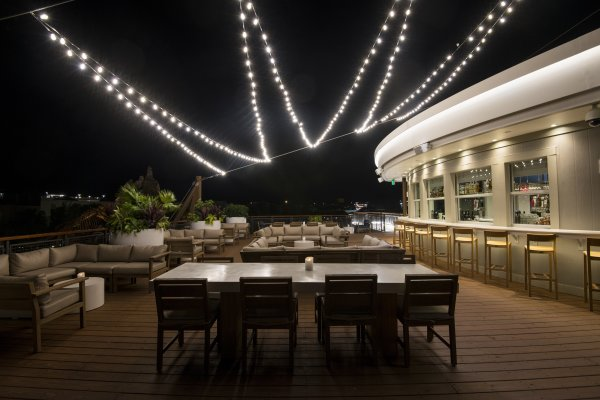 Paddlefish Rooftop Lounge Exterior Deck