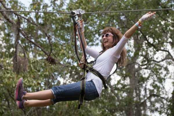 Jump, climb, swing and soar at TreeUmph!