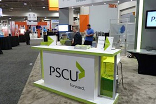 PSCU trade show booth.
