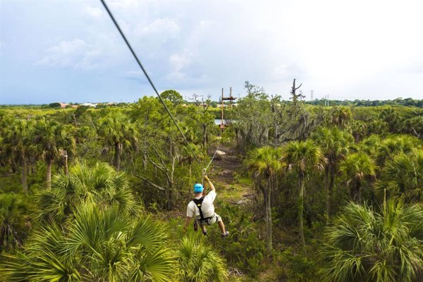 Zip line over the nature preserve