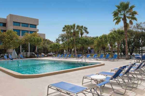 Outdoor pool with view of Hillsborough River