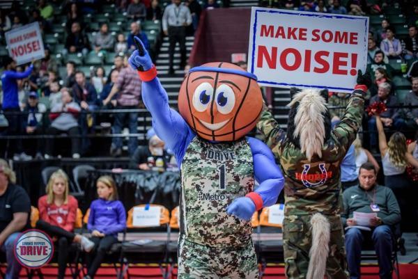 Grand Rapids Drive mascot, Buckets