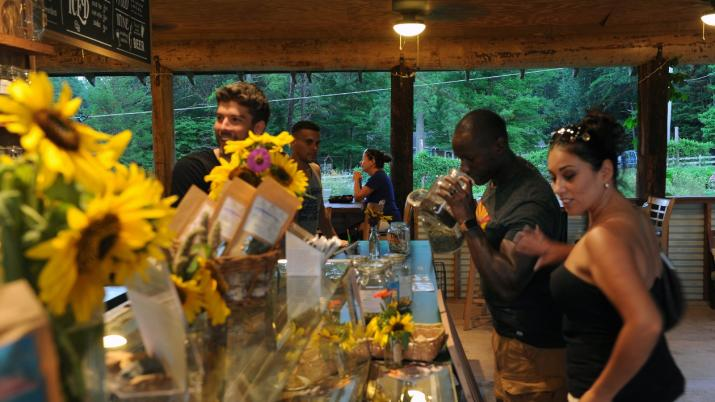 Honeysuckle Tea House - inside view