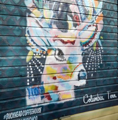 Buckhead Coffeehouse Mural on Trotwood Avenue